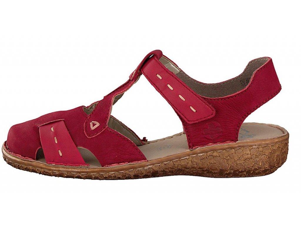 rieker damen sandale rot m0972 33 7 2