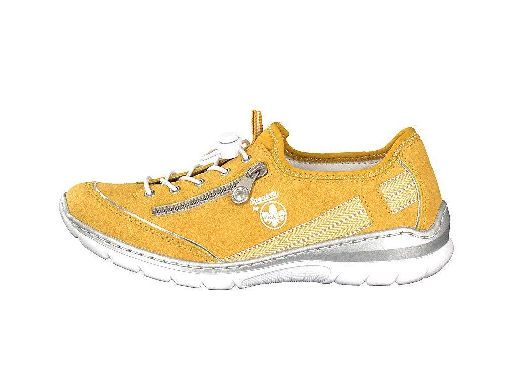rieker damen sneaker gelb l32t4 68 7 2