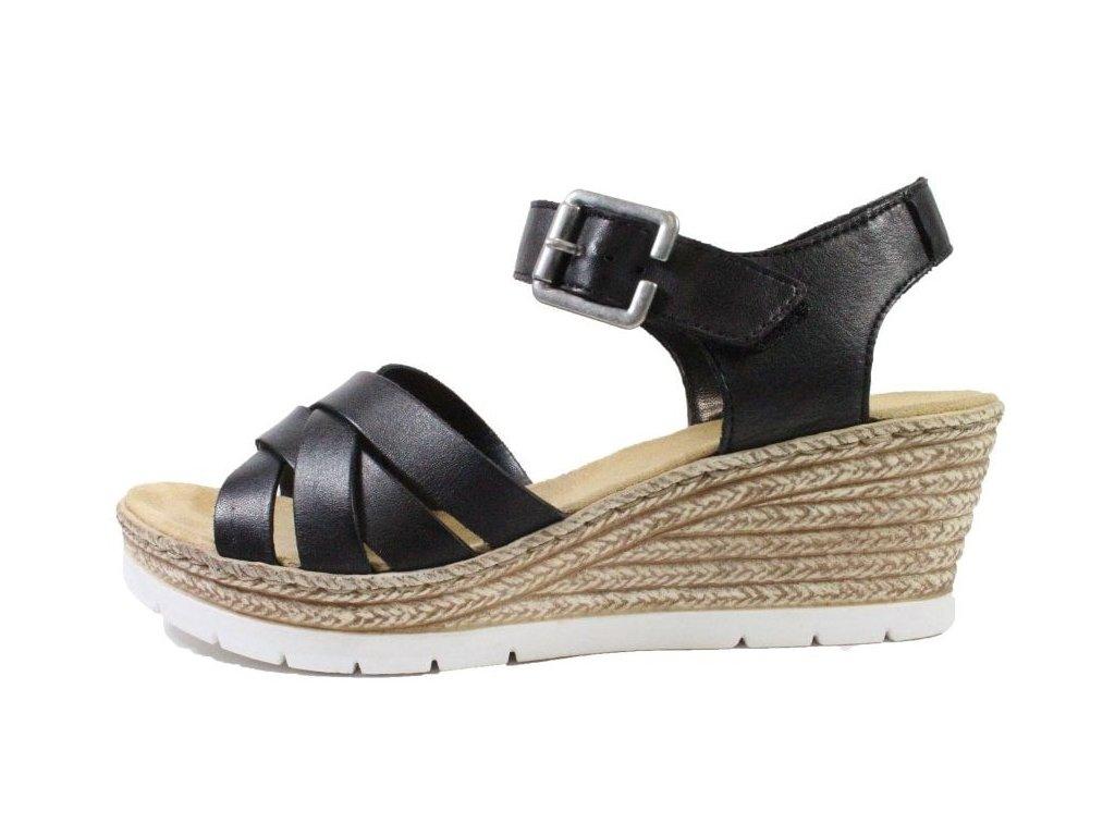 rieker 61963 00 black womens wedge heel sandals p20704 92736 image (1)