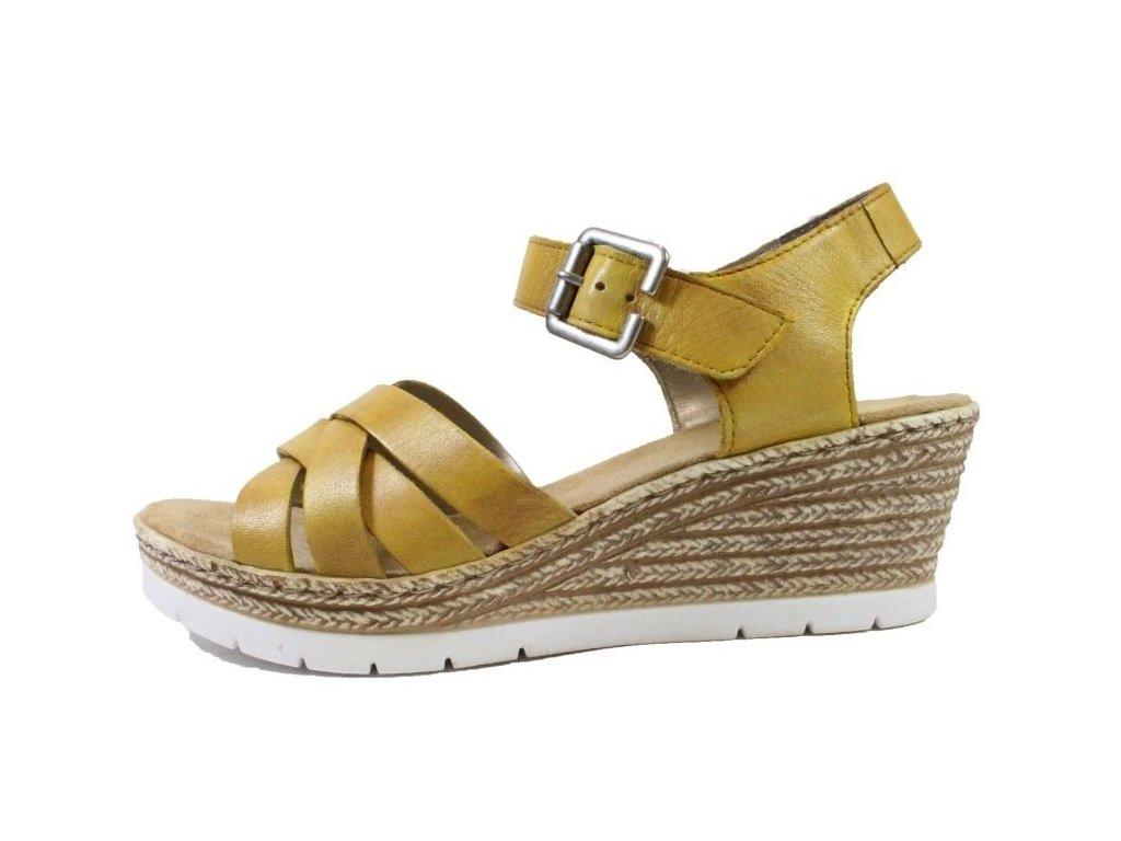 rieker 61963 68 yellow womens wedge heel sandals p20705 92309 image