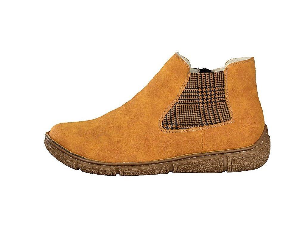 rieker damen boot gelb z3794 68 7 2