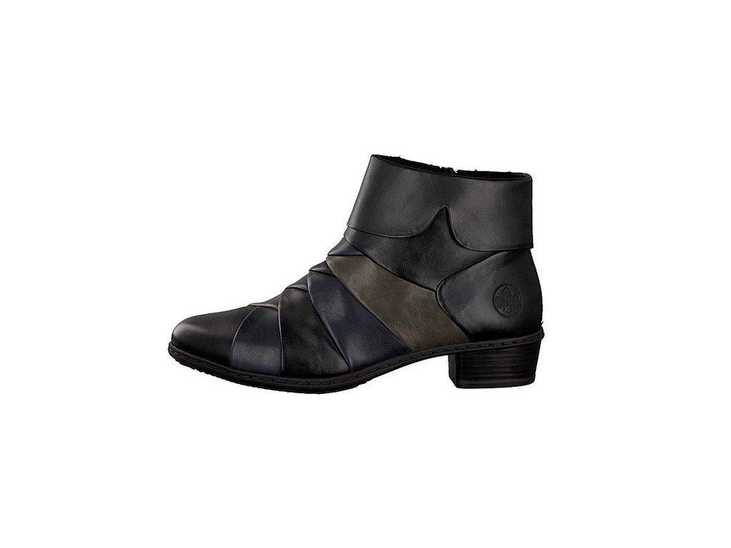 rieker women ankle boot black y0791 01 7 2