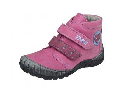 46cf8a80821 Dětská kožená zdravotní celoroční obuv kotniková FARE 820155