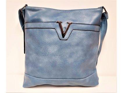 Kabelka FLORA Luxusní kabelka dámská tmavě šedá 6341