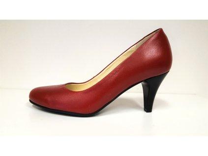 Dámské elegantní červené / bordo / rubín kožené lodičky Mintaka 622500