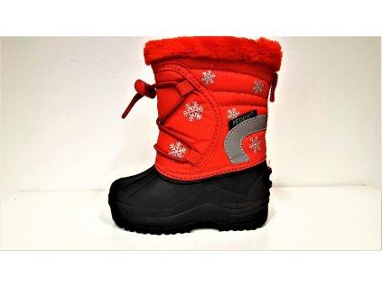 Dětská zimní červená sněhule  PEDDY PN-631-25-98