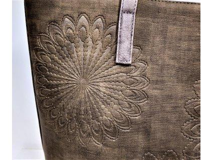 Kabelka FLOTA@CO Luxusní kabelka dámská béžová K9179 GRIS CLAIR