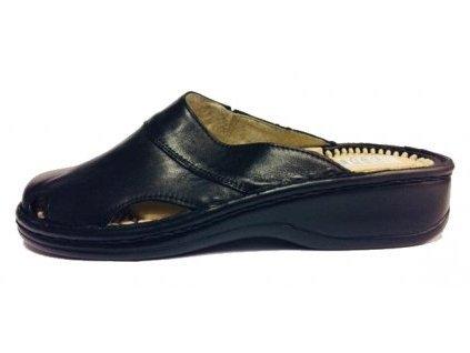 7290 5 hujo f 01 cerne kozene zdravotni pantofle (1)