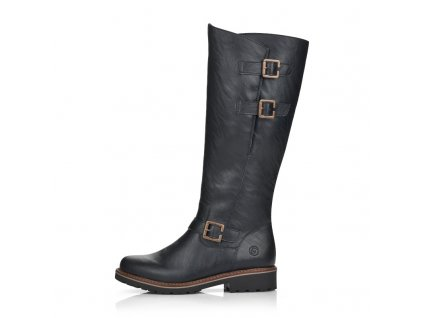 big size winter boots with natural fur for women remonte r6590 01 (2)