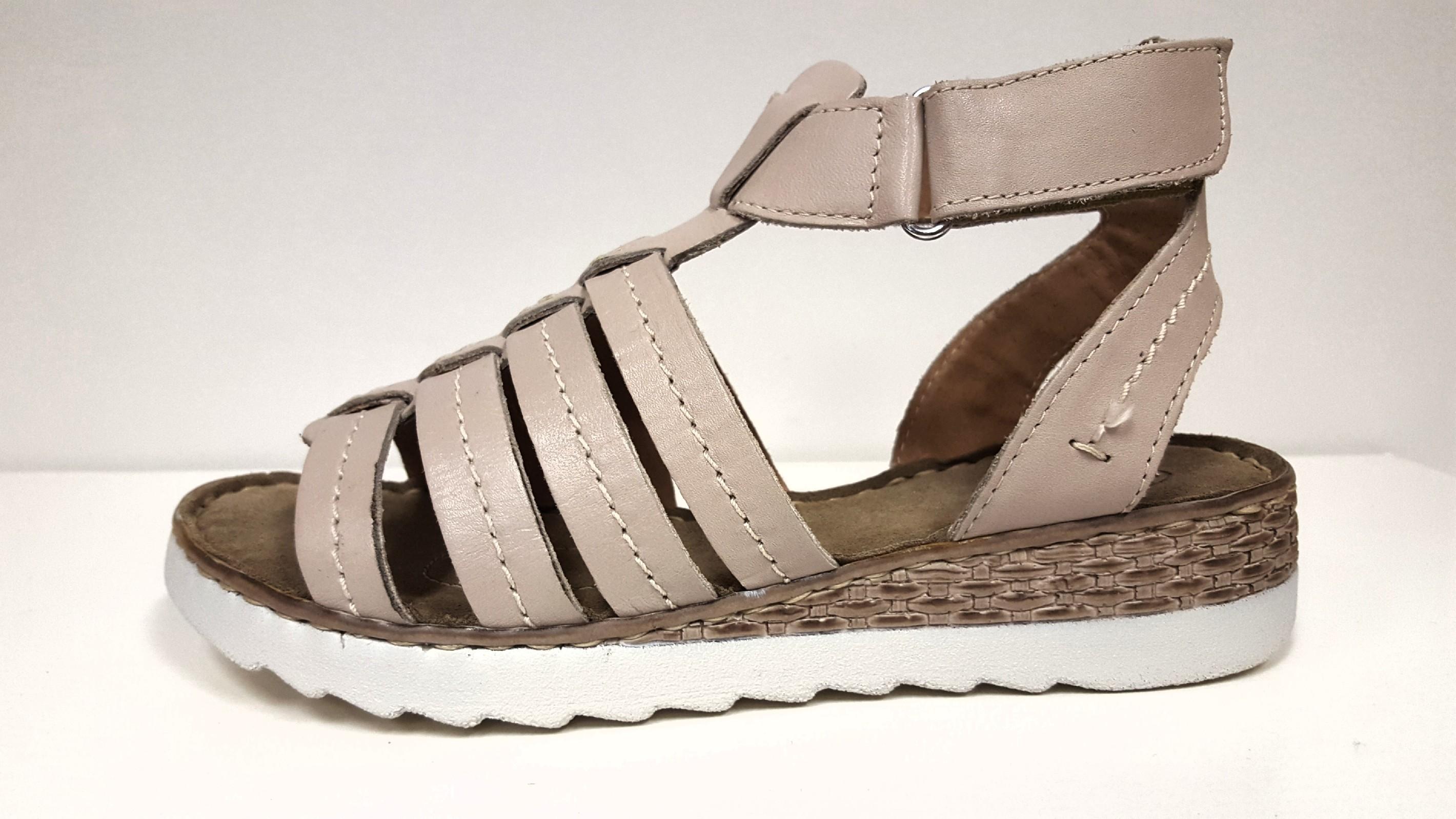 d1c156a0088 Dámské kožené páskové sandály béžové zdravotní obuv na klínku SANTÉ VF 24  Tabulka dámských velikostí