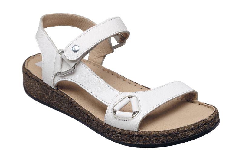 28e400476ea Dámské kožené páskové sandály béžové zdravotní obuv na klínku SANTÉ BIANCO  35871 Tabulka dámských velikostí