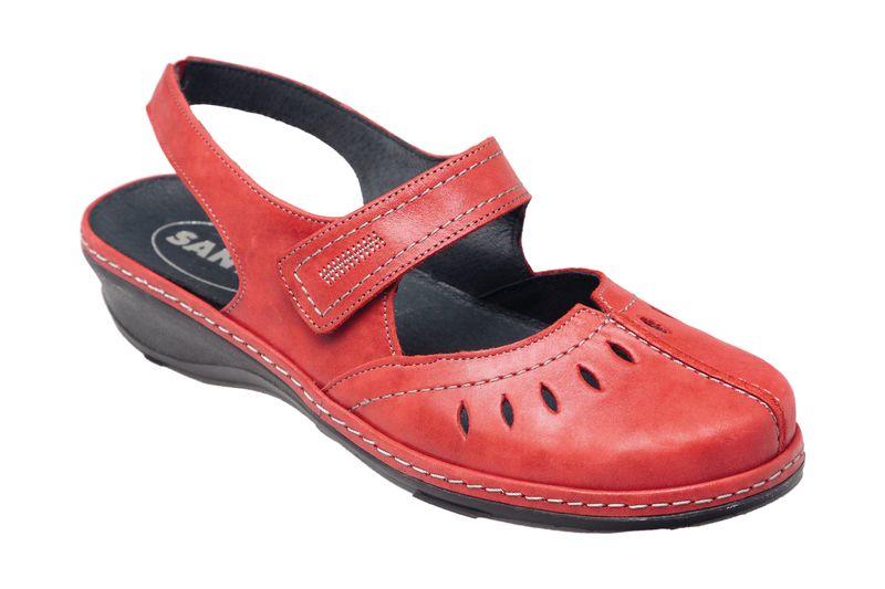 0f02410f95a5 Dámské červené kožené sandály   baleríny SANTE CZ Tabulka dámských  velikostí  36