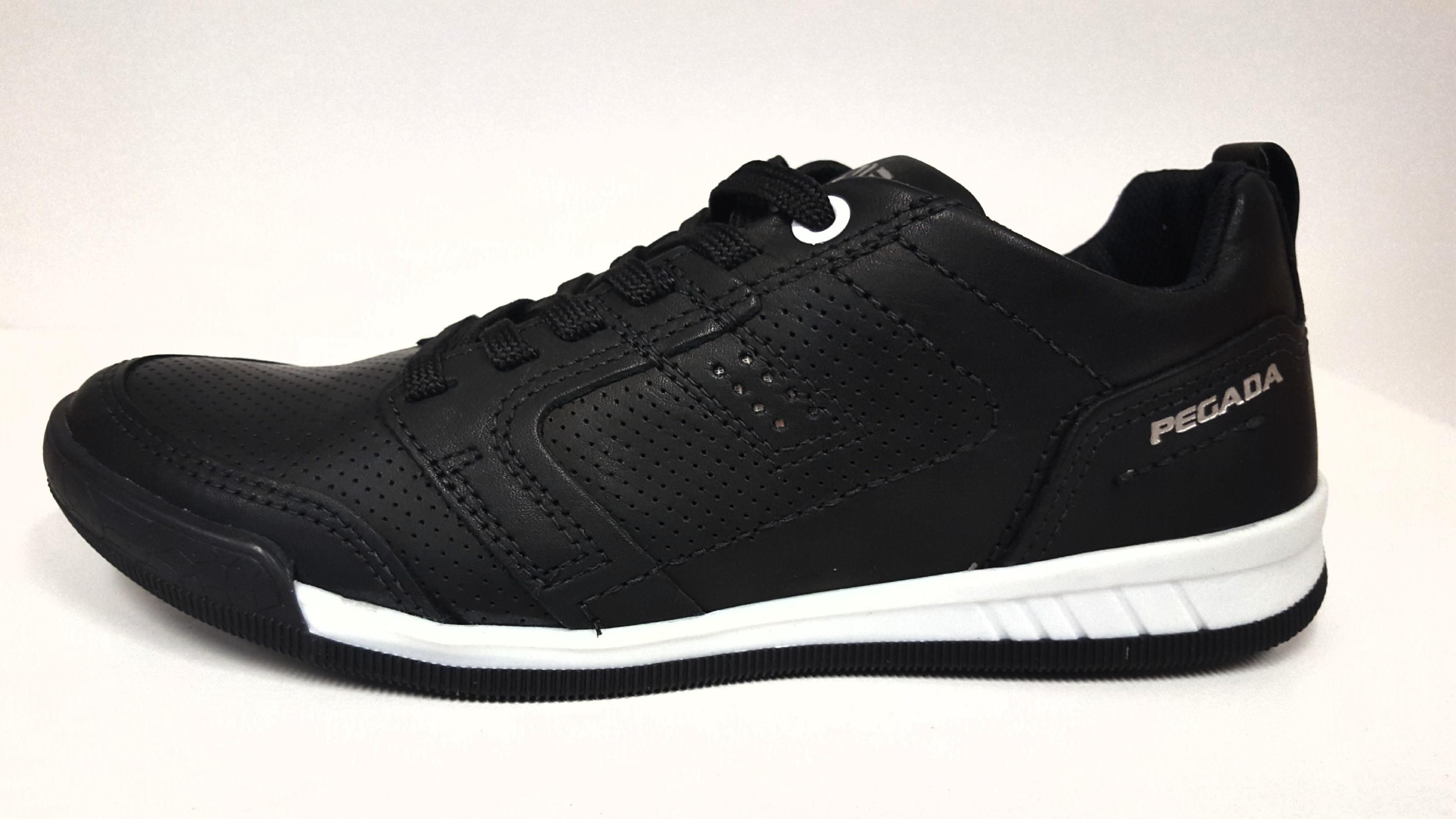 94aff305889 Dámská kožená černá šněrovací vycházková obuv zdravotně tvarovaná na nízkém  klínu SANTÉ   PEGADA Tabulka dámských