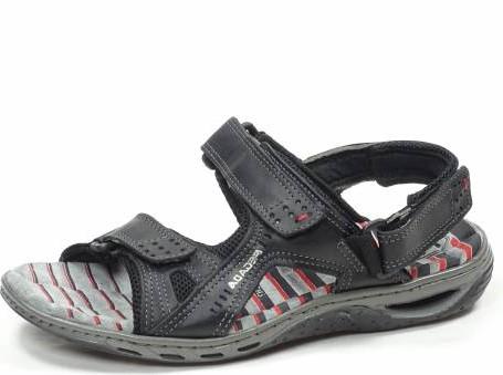 8c8243e5108d Pánské černé zdravotní sandály PEGADA - SANTÉ Tabulka pánských velikostí  40