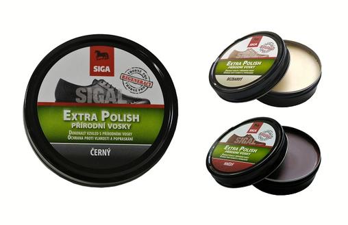 SIGAL Extra Polish - dóza 75 ml černý, hnědý, bezbarvý: černý