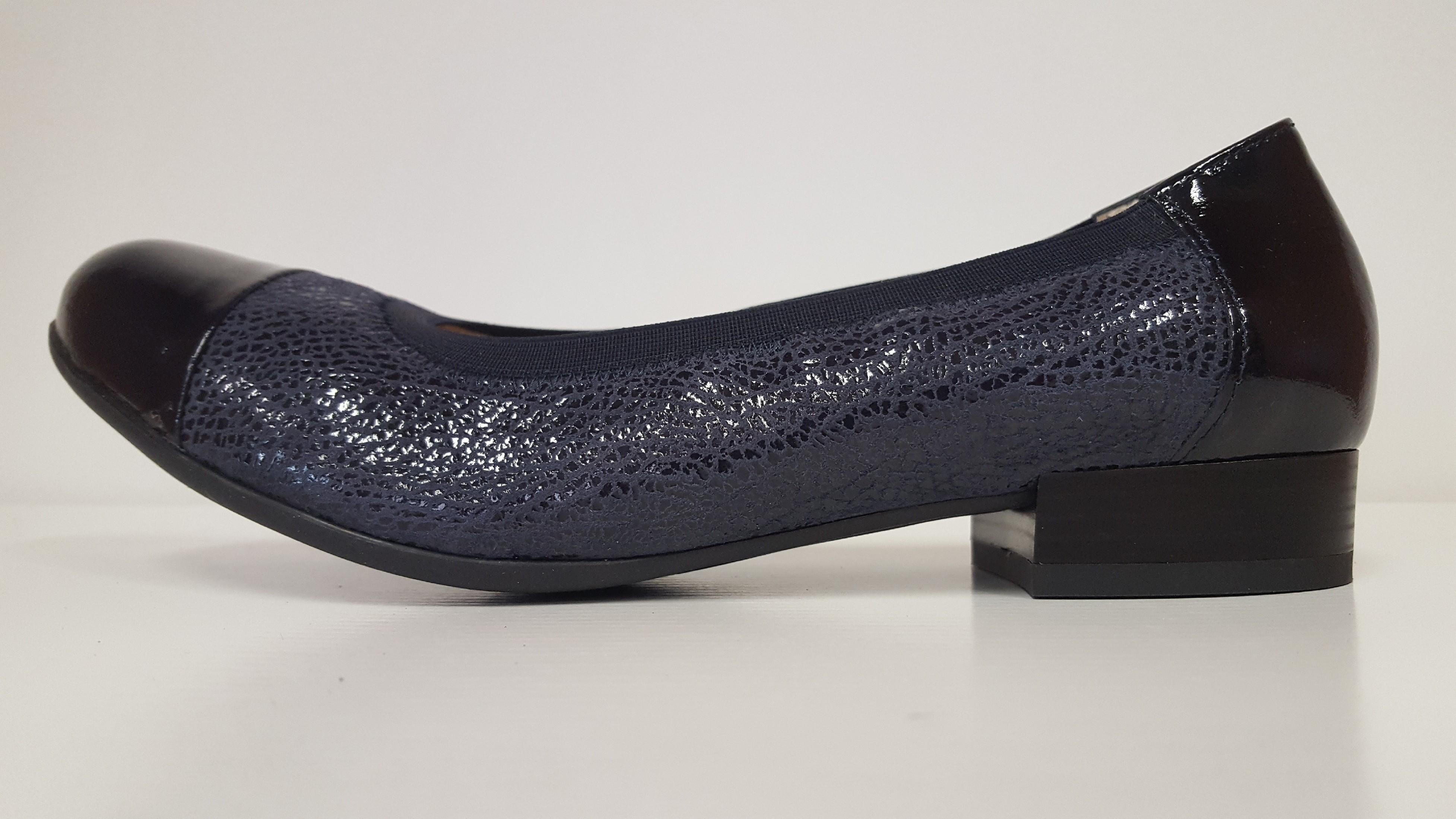 Dámské kožené elegantní, modré, zdravotní lodičky Sante AL/8415 Tabulka velikostí-dámské: