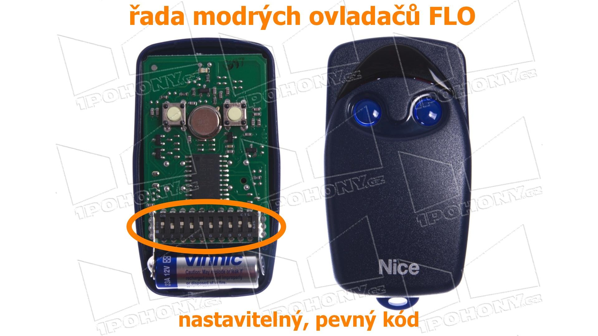 Přestalo mi fungovat dálkové ovládání garážových vrat. Ovladač Nice FLO2. Jak zjistím, jestli je pokažný ovladač, nebo příjmač?