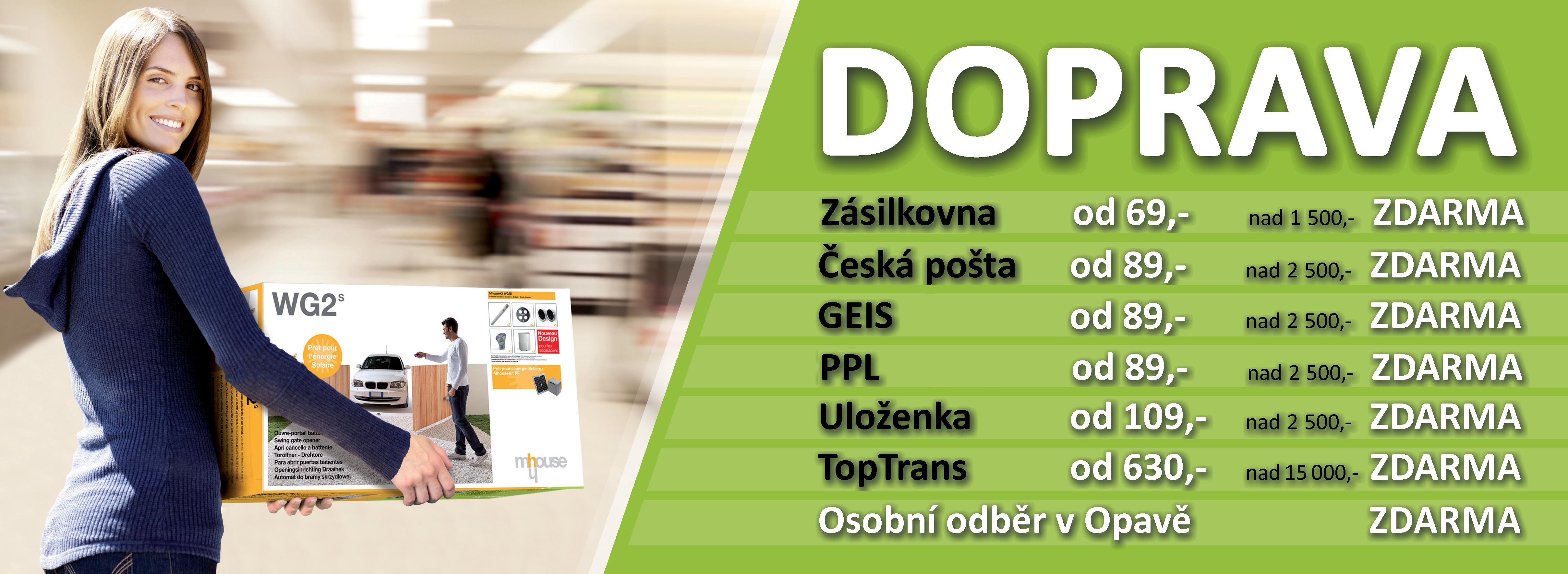 Dopravné Česká republika 1pohony.cz