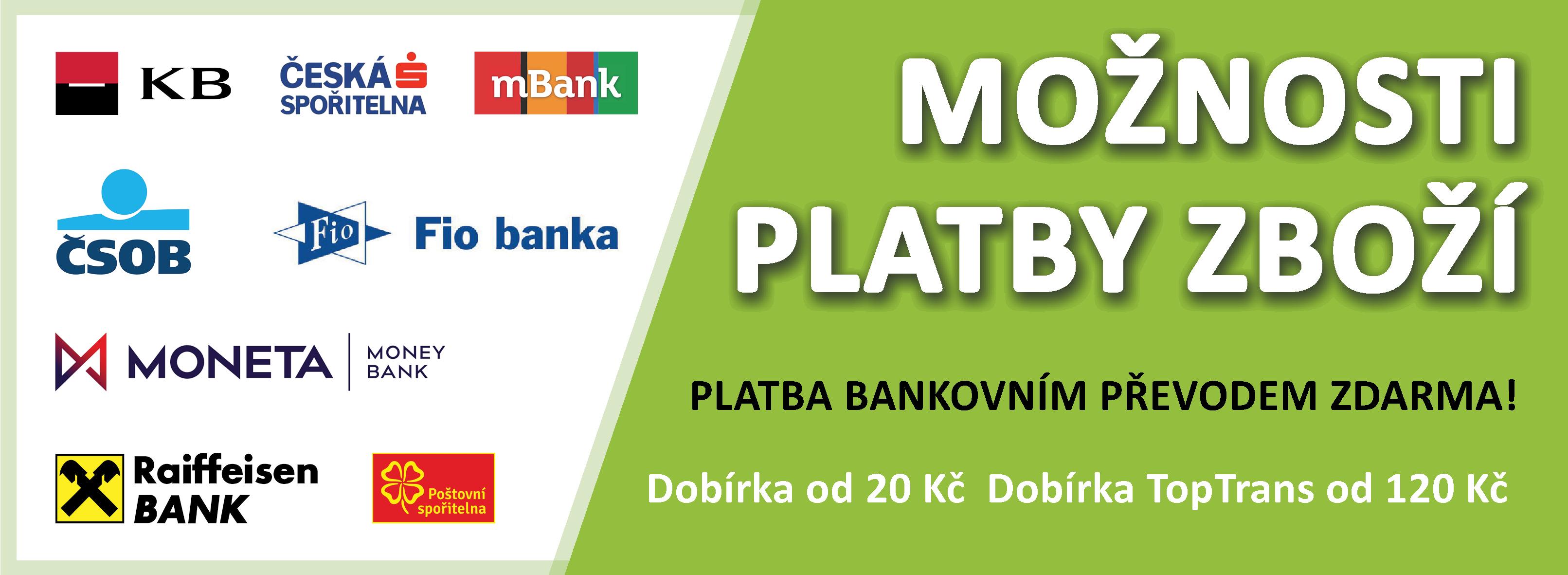 1pohony.cz - možnosti platby zboží