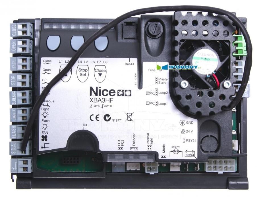 Řídící jednotky pro závory Nice, náhradní elektroniky do vjezdových závor Nice