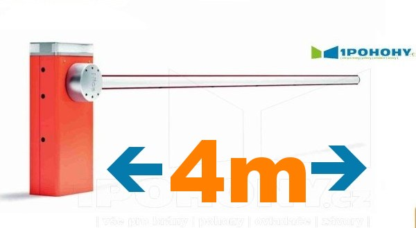 Závory Nice do 4 m průjezdu, Automatické závory s rameny 4 m