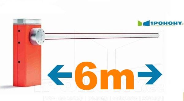 Vjezdové závory Nice s rameny 6 m, závory s rameny 6 m