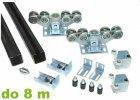 Sady komponentů samonosné posuvné brány do 8,0 m šířky průjezdu