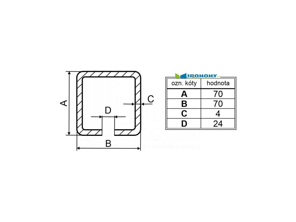 cp70 rozměry C-profilu pro bránu