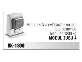 Came BK-1800 motor 230V s ovládacím centrem pro posuvnou bránu do 1800 kg