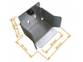 KA444 dojezdová kapsa pro odlehčení samonosné brány s profilem CP 444