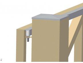 RW40 horní vodící bílá kladka posuvné brány Ø 40 mm