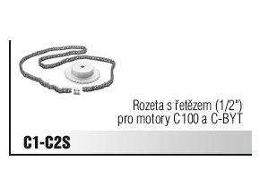 """Rozeta s řetězem (1/2"""") pro motory C100 a C-BYT"""