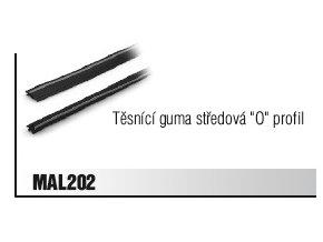 """CS.MAL.202 Těsnící guma středová """"O"""" profil"""