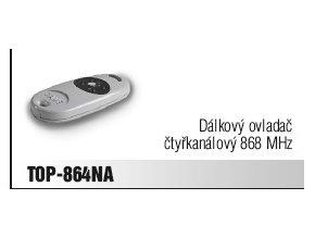 Ovadač Came TOP-864NA dálkový ovladač pro pohony Came, 868,35 MHz,4 kanálový
