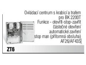 Came ZT6 řídící jednotka s krabicí a trafem pro posuvné pohony Came na 400V