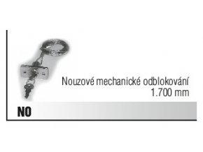Nouzové mechanické odblokování 1.700 mm