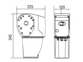 Motor 230V pro průmyslová vrata IP54