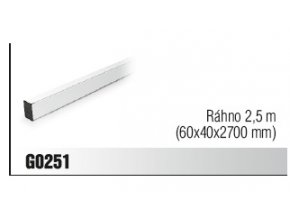 Ráhno 2,5 m (60x40x2700 mm)