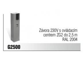 Závora 230V s ovládacím centrem ZG2 do 2,5 m RAL 2004