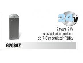 Závora 24V s ovládacím centrem do 7,6 m průjezdní šířky