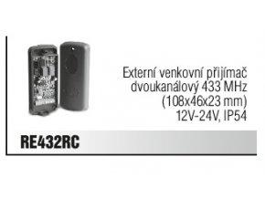Came RE432 externí venkovní přijímač dvoukanálový 433,92 MHz