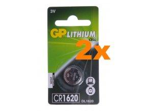 Lithiová baterie GP CR1620 do ovládačů na vrata, 3V, balení 2ks
