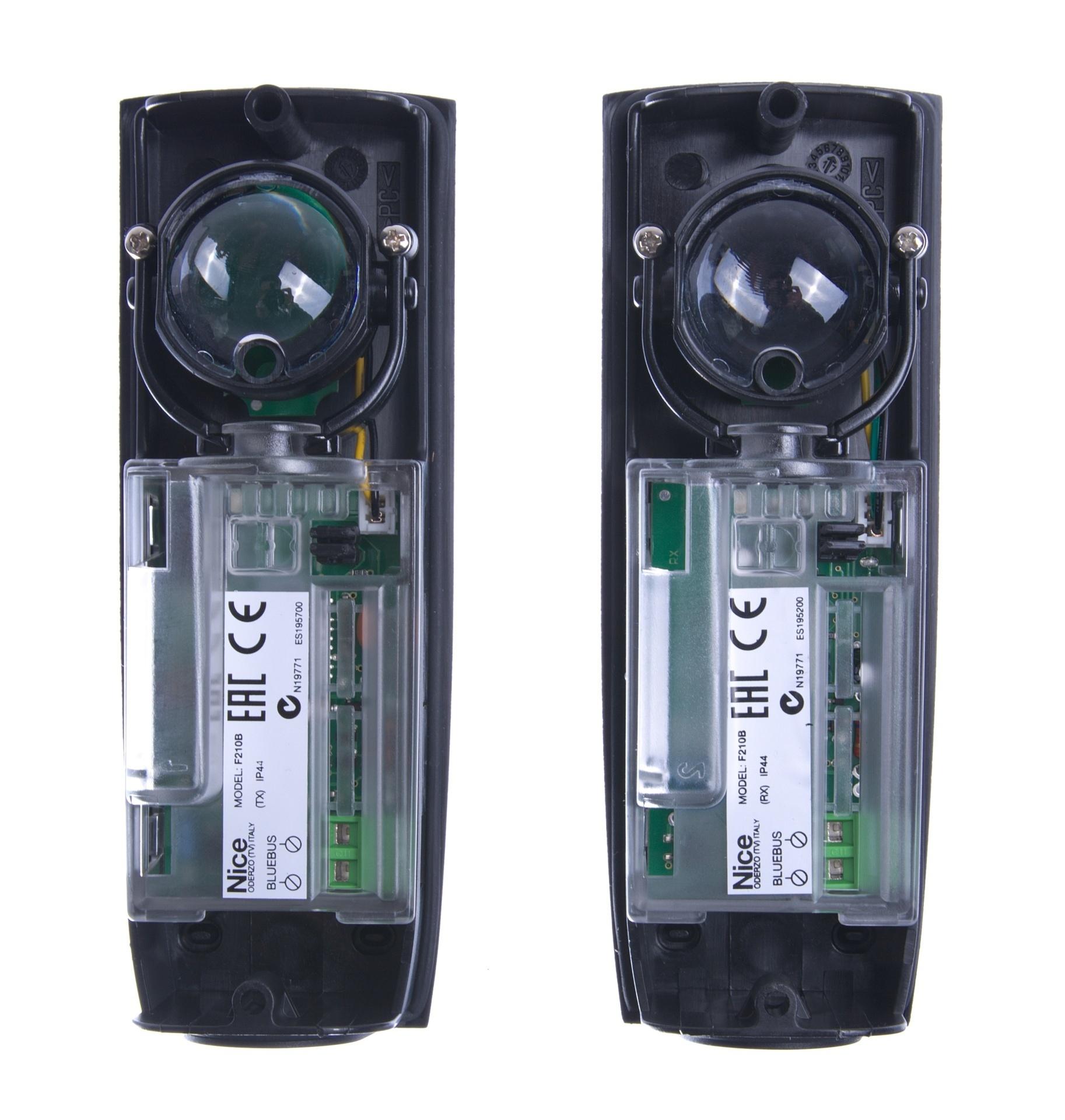 fotobuňky bezpečnostní Nice F210B k pohonům vrat s BlueBus sběrnicí