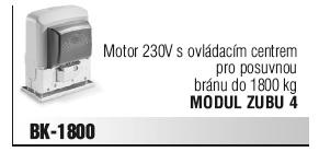 Motor 230V s ovládacím centrem pro posuvnou bránu do 1800 kg