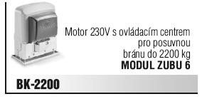 Motor 230V s ovládacím centrem pro posuvnou bránu do 2200 kg