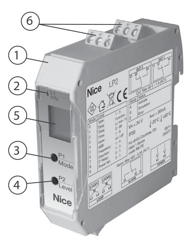 NICE LP2 zemní dvousmyčkový indukční detektor vozidel