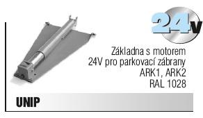 Základna s motorem 24V pro parkovací zábrany ARK1, ARK2, RAL 1028