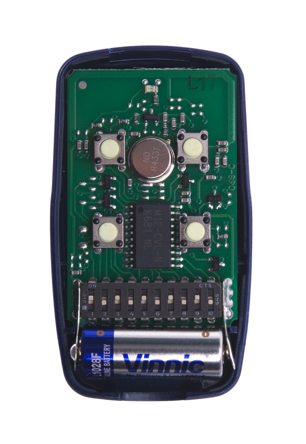 Nice FLO4 čtyřkanálový dálkový ovladač s pevným kódem