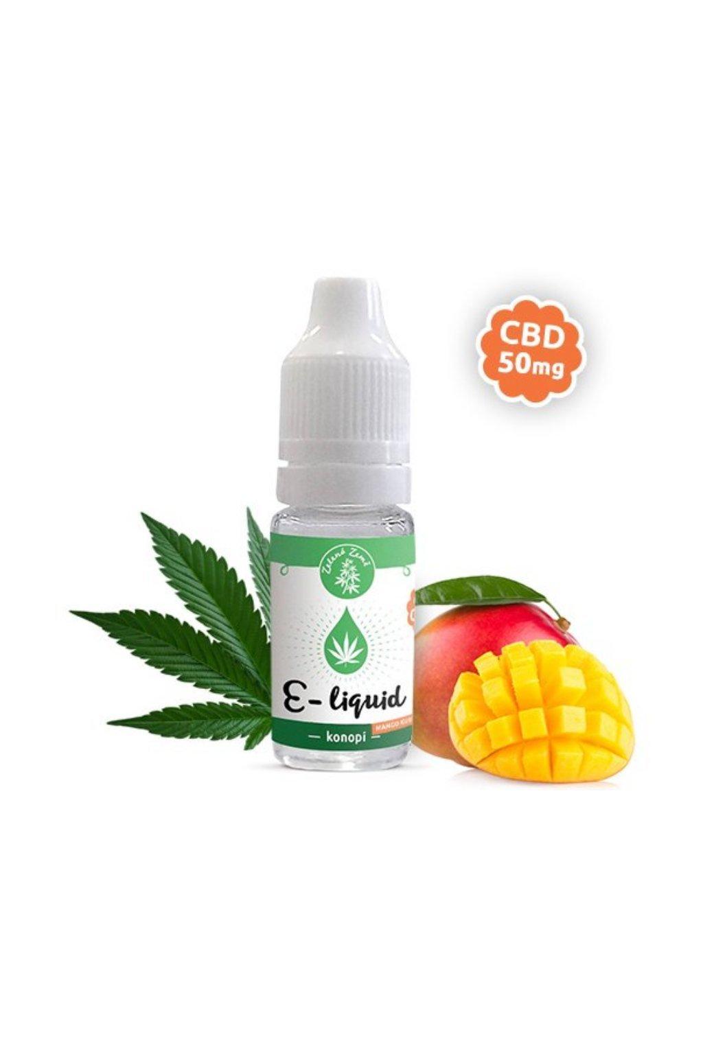 3244 e liquid s cbd prichut konopi mangokush 10ml zelena zeme