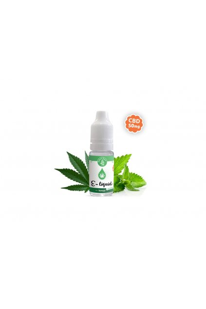 3241 e liquid s cbd prichut konopi spearmint 10ml zelena zeme